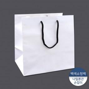 [패킹콩] 백색수동도시락쇼핑백 10장/50장 이미지