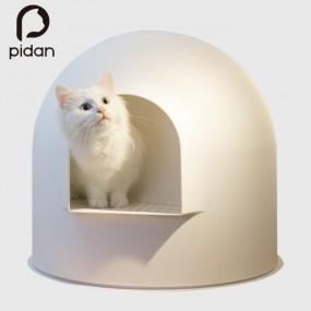 애묘용_이글루 고양이 화장실_화이트 이미지