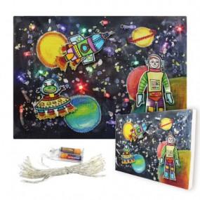 [이지피아] LED 우주 캔버스 액자 만들기 세트_건전지 포함 이미지