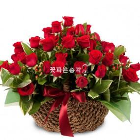 [꽃다발]붉은장미바구니 이미지