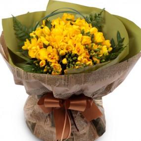 [꽃다발]후리지아꽃다발 이미지
