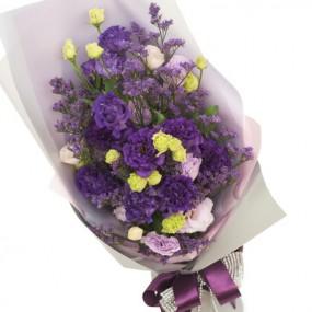 [꽃다발]보라색리시안 이미지