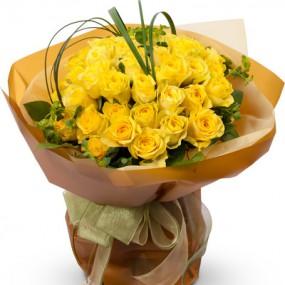 [꽃다발]노랑장미꽃다발2 이미지