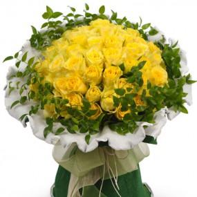 [꽃다발]노란장미한아름 이미지