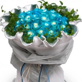 [꽃다발]파란장미꽃다발 이미지