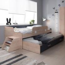 [현대리바트] 꼼므주니어 수납 침대/2단 슬라이딩 수납침대 이미지
