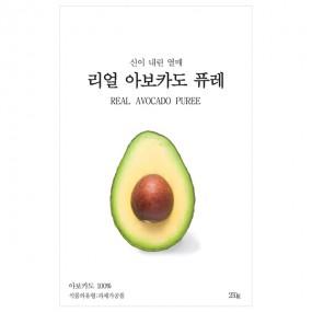 [아자몰단독구성] 리얼 아보카도 퓨레 250g × 2개 이미지