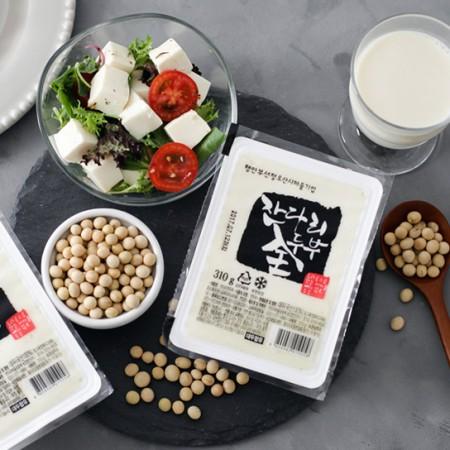 잔다리마을 콩을 통째로 갈아넣은 국산콩 전두부 (310g × 4모) 이미지