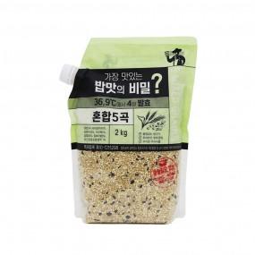 [광복] 가장 맛있는 밥맛의 비밀? 4일 발효 혼합5곡 2kg 이미지