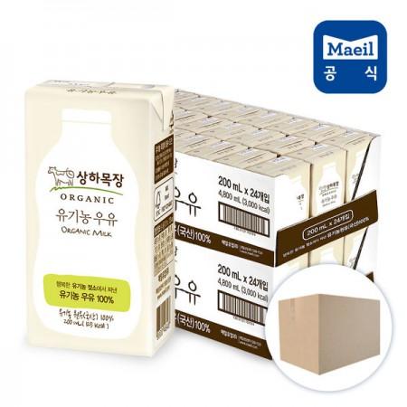 상하목장 유기농 멸균우유 200ml 48팩