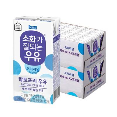 매일 멸균 소화가 잘되는 우유 190ml 48팩
