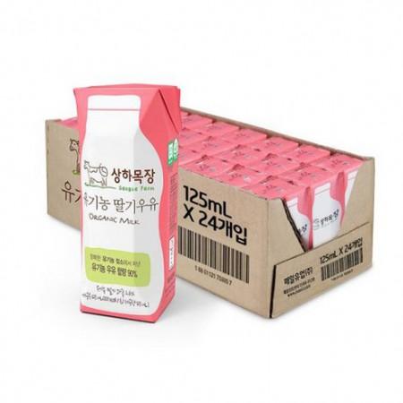 상하목장 유기농 멸균  딸기, 바나나, 코코아우유 125ml 24팩