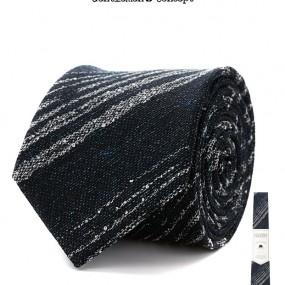 [젠틀맨스컨셉 by STCO] 은은한 레지멘탈 넥타이 네이비 이미지