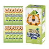 얼리버드 키즈 천연 과일 젤리팜 젤리스틱 청포도 맛 12g 10포 이미지