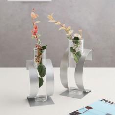 글라스코 꽃꽃이가 쉬운 한송이 유리꽃화병 모음 이미지