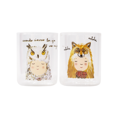 [Glass] Owl & Fox 명화그림 명화액자로 집 꾸미기 이미지