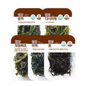 염장해초 모음전 세트2(곰피+다시마채+모듬해초+미역+톳) (요리의바다) 이미지
