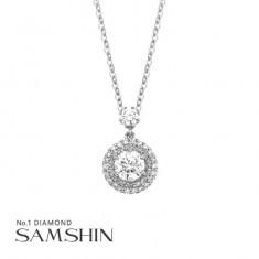 [삼신다이아몬드] 그릴리오 3부 다이아몬드 목걸이 이미지