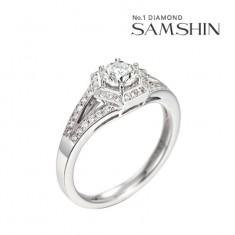 [삼신다이아몬드] 아르니아 5부 14K 반지 이미지