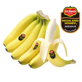 [델몬트] 하이랜드 허니 프리미엄 고산지 바나나 1.2kg~1.4kg (1송이/2송이/4송이) 이미지