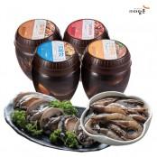 [행복찬바다장] 바다모듬장 4종(전복장+새우장+황게간장게장+황게양념게장) 4통 / 3kg 이미지