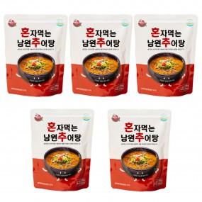 [농식품벤져스] 남원미꾸리 혼자먹는 남원추어탕 300g*5입/박스 무료배송! 이미지