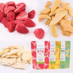 [딜라잇가든] AZA 단독기획! 동결건조 과일칩 모음 10팩(딸기칩5팩+망고칩 3팩+파인애플칩2팩) 이미지