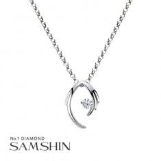 [삼신다이아몬드] 드리밍 엔젤 1부 다이아몬드 목걸이 이미지