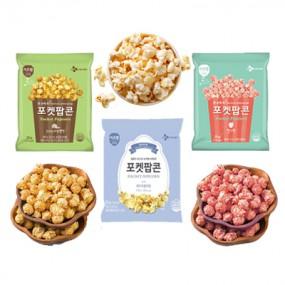 [아자마트] [이츠웰] AZA 단독! 포켓팝콘 3가지 맛!<br>(크리미카라멜,딸기,화이트블러썸 각 25g*10개) 이미지