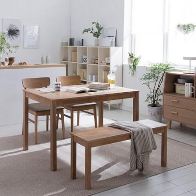 [현대리바트] 뉴시나몬 원목식탁세트(원목의자)