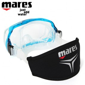 MARES 마레스 마스크 스트랩 커버(trilastic, 412901-11H)-BLK 이미지