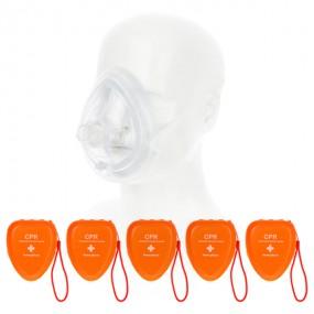 CPR 보급형 포켓 마스크 5개 묶음상품 이미지
