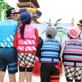 물놀이필수 바다체험 성인 아동 구명조끼 이미지