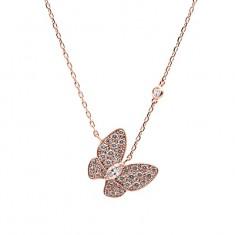 [에비뉴다이아몬드] 큐빅 나비 목걸이  14k 18k 선택가능 이미지