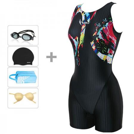[랠리] 여성수영복 아쿠아로빅 3부 JSLH418 BLK+4종 이미지