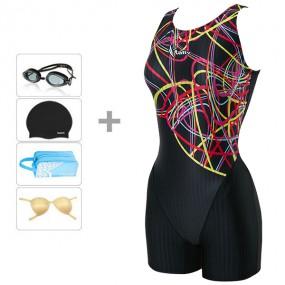 [랠리] 여성수영복 아쿠아로빅 3부 JSLH412 BLK+4종 이미지