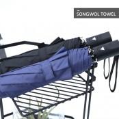 [송월우산]카운테스마라 3단 무지 반자동 우산 이미지