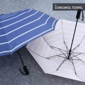 [송월우산]카운테스마라 2단 더블스트라이프 반자동 우산 이미지