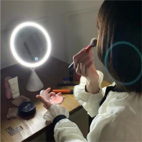 뷰티온 LED화장거울 원형 조명화장대 탁상 메이크업 마법거울 이미지