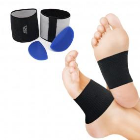 아치밴드플러스 발바닥 아치 기능성 풋패드 쿠션 미끄럼방지재질 실리콘 신발깔창대용 밸런스 서포트 부조쿠션 이미지