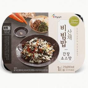 [하늘농가] 그대로 데워먹는 산채비빔밥(간장맛) 215g 이미지