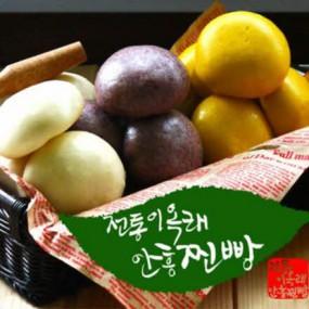이옥래 안흥찐빵 백미/단호박/흑임자 30팩 구성 4종 택1 이미지