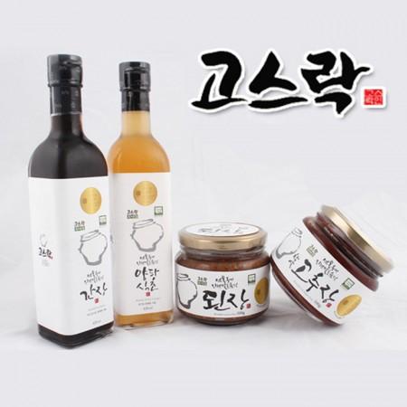 전북 익산 함열 다송리 유기농 발아현미고추장/양파식초/간장/된장 모음전