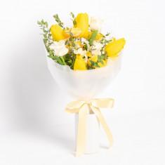 [꽃다발]희망을 전하는 노란튤립 꽃다발 이미지