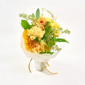 [꽃다발]희망을 전하는 노란 꽃다발 이미지