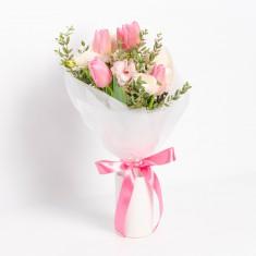 [꽃다발]소중한 사람에게 선물하는 핑크튤립 꽃다발 이미지