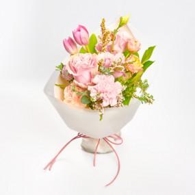 [꽃다발] 소중한 사람에게 선물하는 핑크 꽃다발 이미지