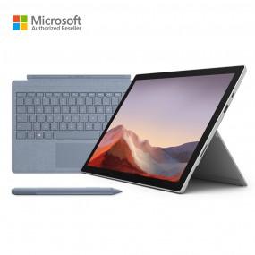 마이크로소프트 서피스 프로7 플래티넘 i5/8GB/128GB + 키보드 타입커버 아이스블루 + 서피스 펜 이미지