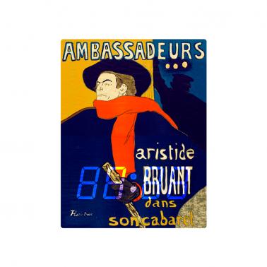 [LED CLOCK] Ambassadeurs (Aristide Bruant dans son cabaret), 1892  명화 벽시계 이미지