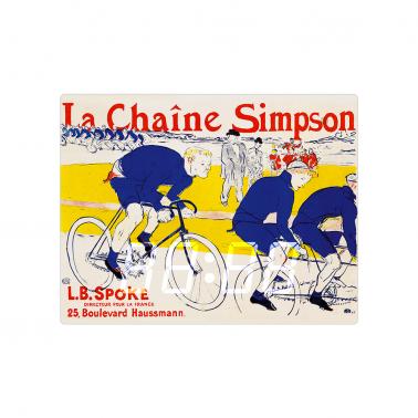 [LED CLOCK] La Chaine Simpson, 1896  명화 벽시계 이미지